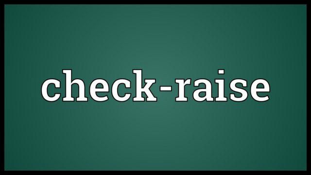 check-raise
