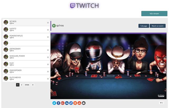 πόκερ στο Twitch.tv